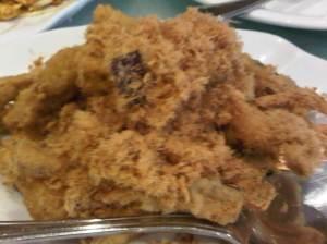 Brinjal Chips with Pork Floss