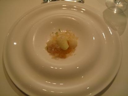 Pre Dessert: Pineapple, lychee, yoghurt, mango and earl grey