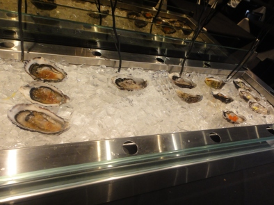 Oyster buffet table