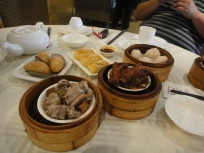 Har gao, chicken feet, char siew sau, pork ribs