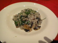 Risotto Chicken & Porcini Mushroom: Risotto with chicken, porcini mushroom, spinach topped with shaved parmesan cheese