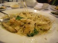 Crab Ee fu Noodles