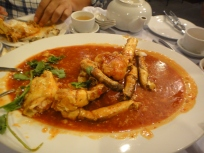 Singapore Chilli Crab ( why did we order this???)