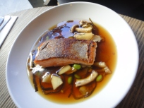 Ocean Trout, Shinji & enoki mushrooms, dashi