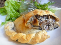 Chicken and Wild Mushroom Pastie