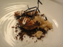 Seared Quail and sticky rice