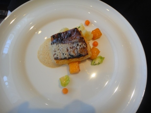 Sweetlips - miso glazed fish with mustard emulsion