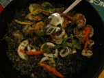 Squid Ink seafood Paella