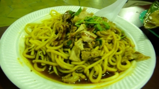 Close up of duck noodles