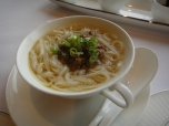 Japanese Noodles with Minced Pork and Spring Onions in Soup
