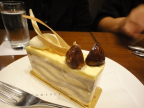 chestnut cake - not really nice