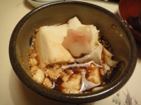 Tofu Hotpot with ponzu and ginger sauce :) OIISHIiii