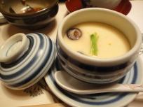 Chawamushi - tofu mixed with mushrooms and ginko nut ♥