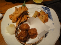 Meat ball, Fish tempura, fishcake -ok only