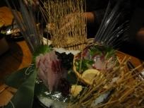 Flying fish sashimi