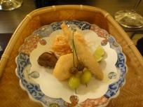 Dish #4 : Tempura - Shashimo fish, chestnut, scallop