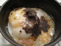 Egg with potato, poultry jus, winter black truffle and parmesan cheese