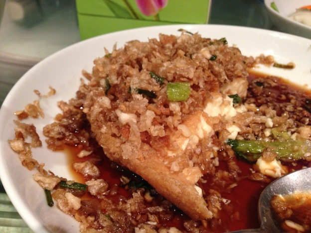 Egg Bean curd with turnips