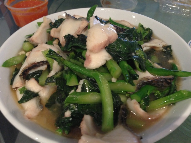 Fish Slices with Kai lan