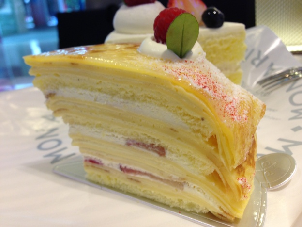 Oh~ My baby Crepe Cake (layered with Strawberry)