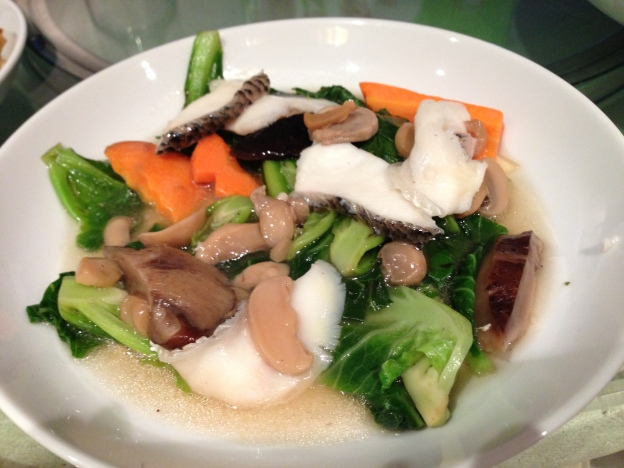 Fish slices with vegetables