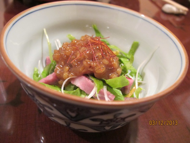 Appetizer: Sweet Miso with Beef Slices