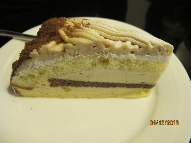 Marron (Chestnut) sponge cake