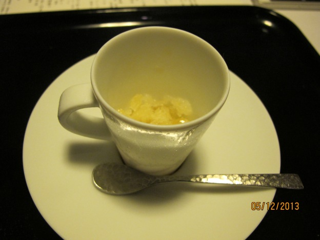 Sixth Course: Palate Cleanser : Apple granite