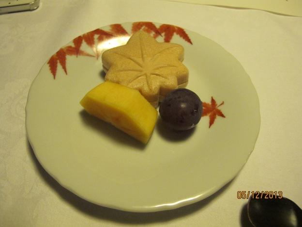 Dessert: Momiji, Kytoto Grape and Persimmon