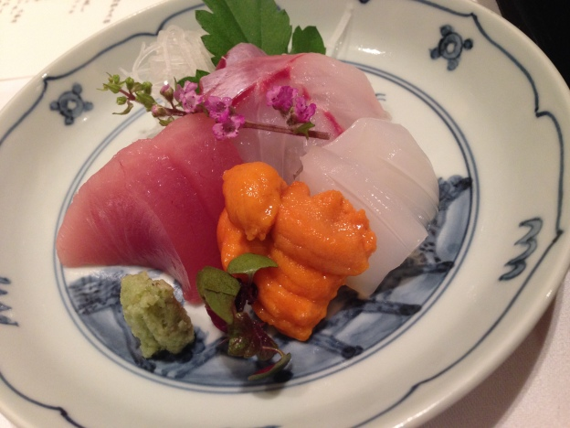 #3: Sashimi ( Chutoro (Tuna), Uni (Sea Urchin) Tai (Sea Bream),