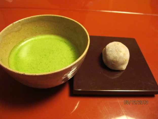 Welcome snack: Matcha with Red Bean Dango