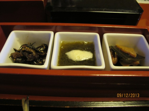 #6: Preserved Vegetables, Grated yam with seaweed, Stewed Root Vegetables
