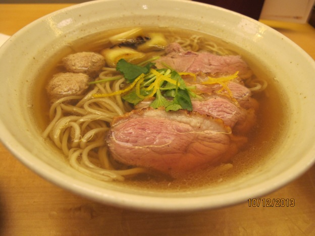 Duck Soba in Soup