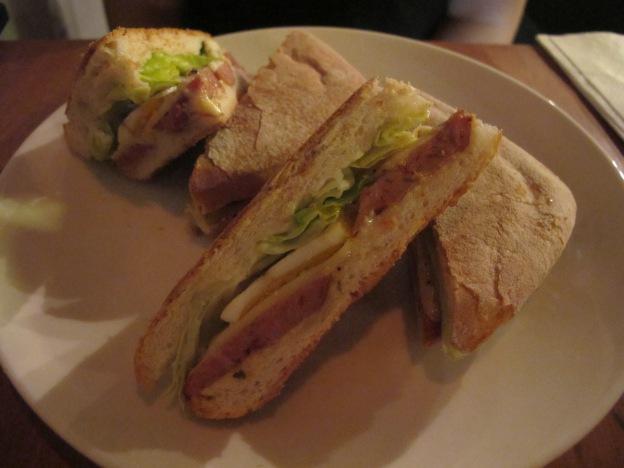 Dirty Ronin Sandwhich (Spicy Italian Sauage and Egg in Ciabatta bread)