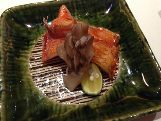 #5: Back of Kinki Fish and Seasonal Mushroom