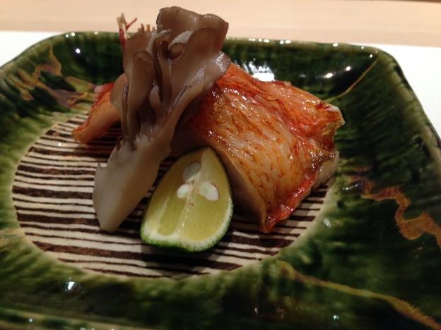Close up of back of Kinki fish
