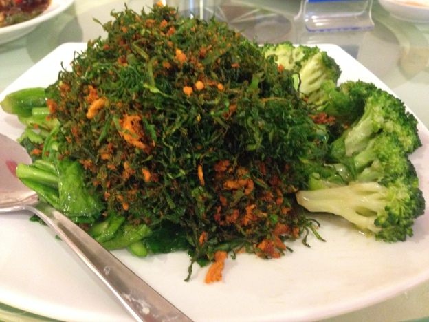 Special wild vegetable with Kailan