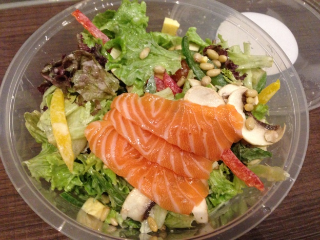 Salmon Sashimi based salad