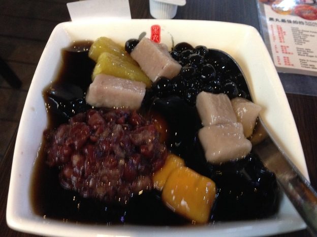 Signature : Grass Jelly, Red Bean, Sweet Potato ball, Yam Ball, Yam. Sweet Potato and Pearl