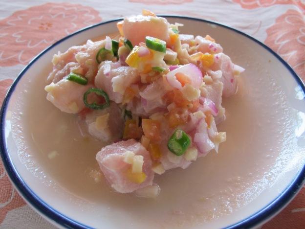 """Vinega-ed Tuna Salad [ pronnounced as """"tinny lau""""]"""