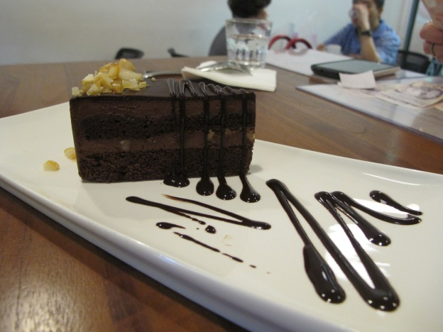 Chocolate Macadamia (dark chocolate mousse cake with Macadamia nuts)