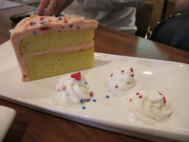 Step Inside Love: Lemon-Sponge Cake with Cheese and Cherry Frosting