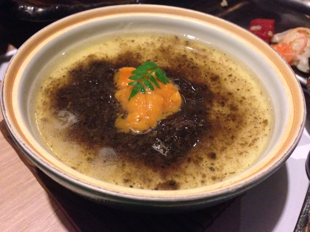 Uni (Sea Urchin) and Black Truffle Chawanmushi( Steam Egg)