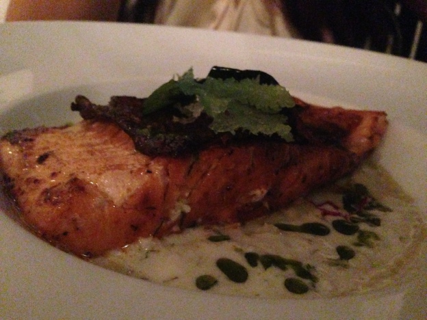 Daily Special: Salmon with creamy sauce
