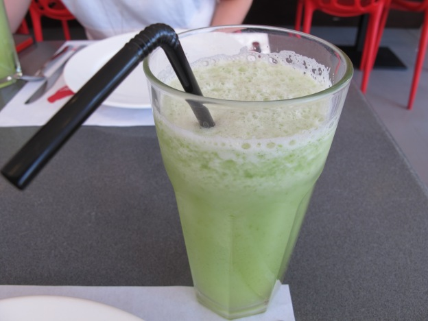 Refreshing popular Cucumber apple tasting drink