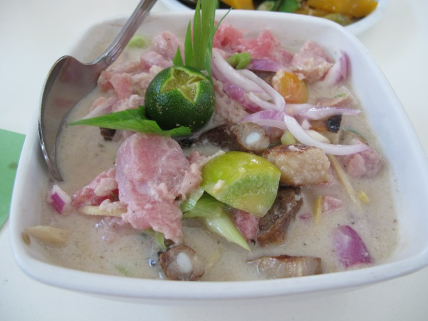 Kinilaw ( Vinegar Tuna with Roast Pork)