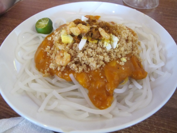 Palabok ( Noodles with Egg, sauce made from shrimp paste)