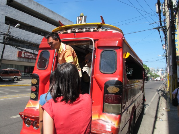 Boarding the Jeepney