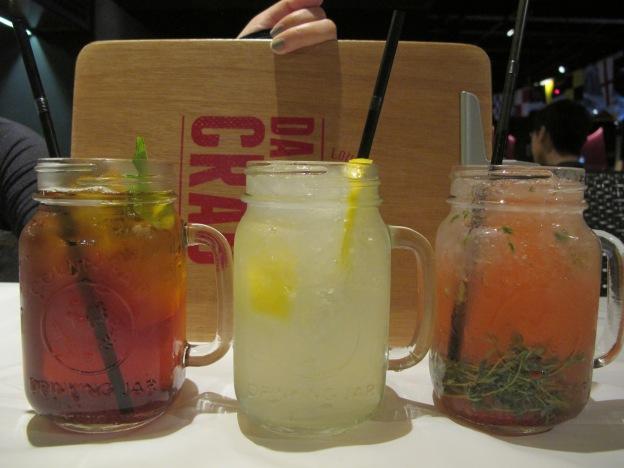 Southern Ice Sweet Tea, Fizzy Lemondae, Pink Thyme Lemondae