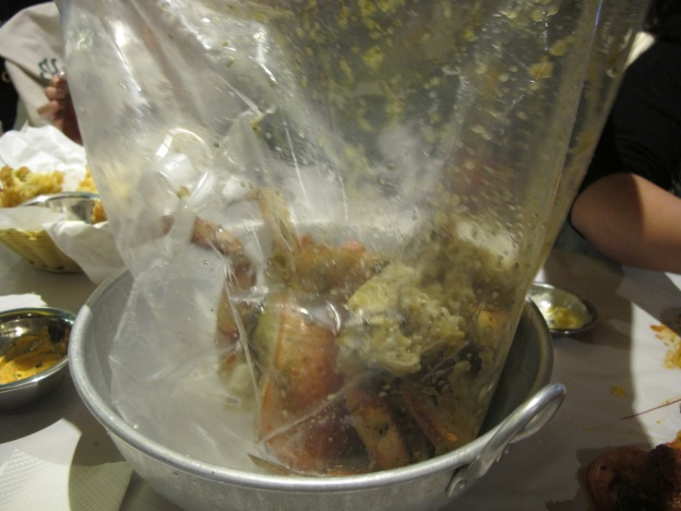 Dungeness crab in a bag